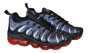 brand new 33a9e c2c40 Kp3 Zapatos Caballeros Nike Vapormax Ultra Plus Gris Rojo