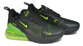 Kp3 Zapatos Damas Caballeros Nike Air Max 270 Negro Verde