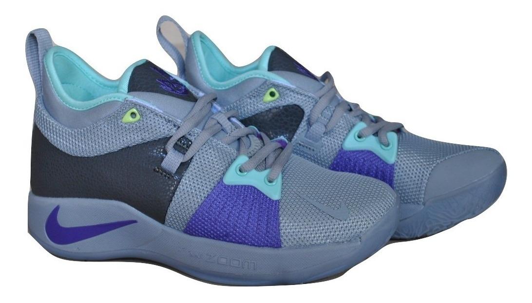 Kp3 Zapatos Damas Nike Paul George 2 Gris Violeta