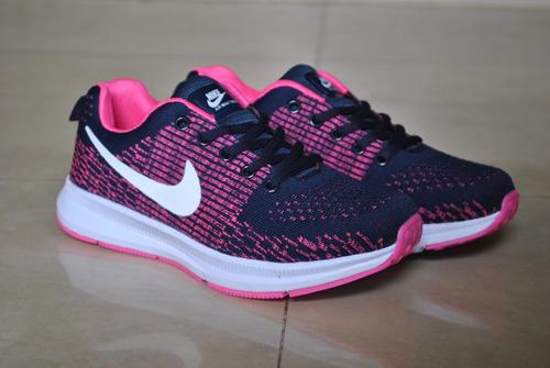 kp3 zapatos deportivo nike air thea zoom azul  / rosa damas