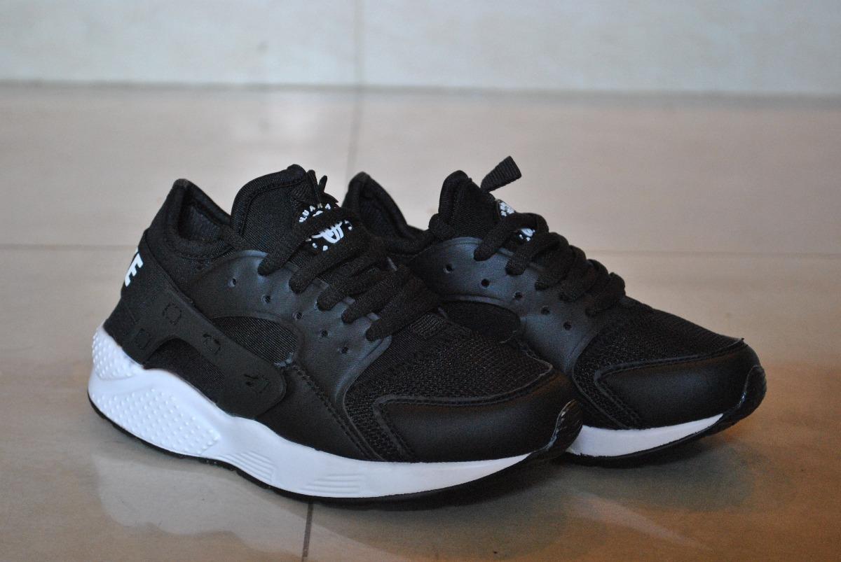 kp3 zapatos nike air huarache negro / blanco para niños. Cargando zoom.