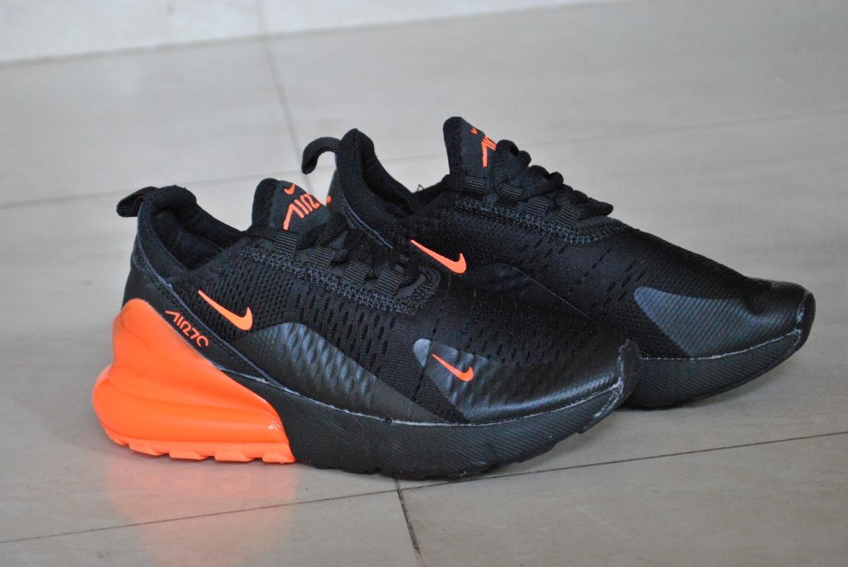 d97945c69bd05 ... spain kp3 zapatos nike air max 270 negro naranja niños niñas. cargando  zoom. c7bb7