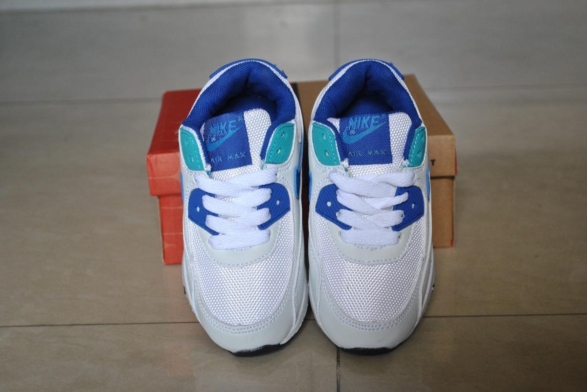 c15db54ee9b kp3 zapatos nike air max 90 blanco azul claro para niños. Cargando zoom.