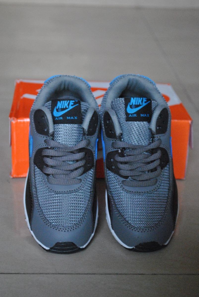 ae2af378f23 kp3 zapatos nike air max 90 gris azul para niños. Cargando zoom.