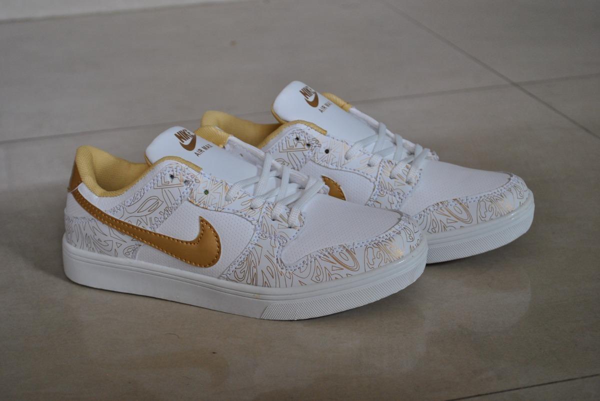 Kp3 Zapatos Nike Air Max Blanco Dorado Para Niños Y Niñas