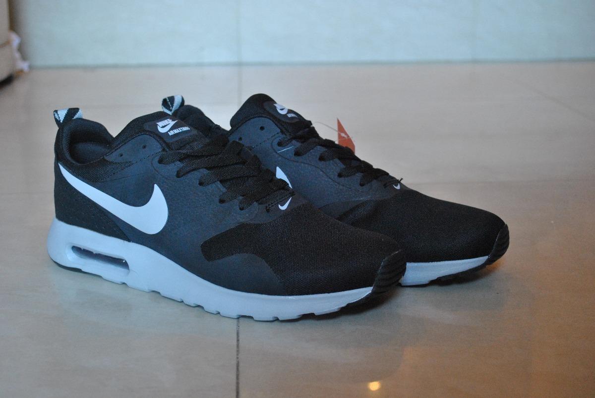 Kp3 Zapatos Nike Air Max Tavas Negro Gris Solo 43 Caballeros