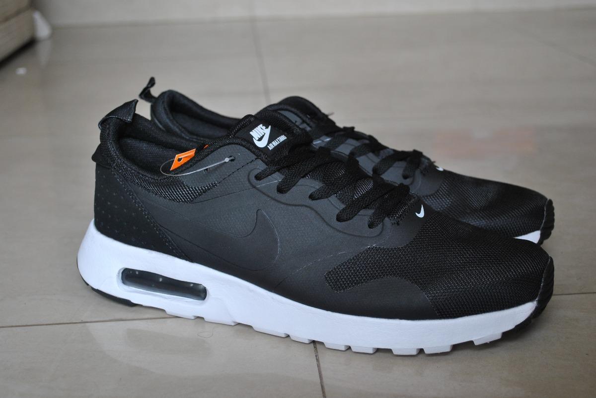 Kp3 Zapatos Nike Air Max Tavas Negro Logo Negro Caballeros