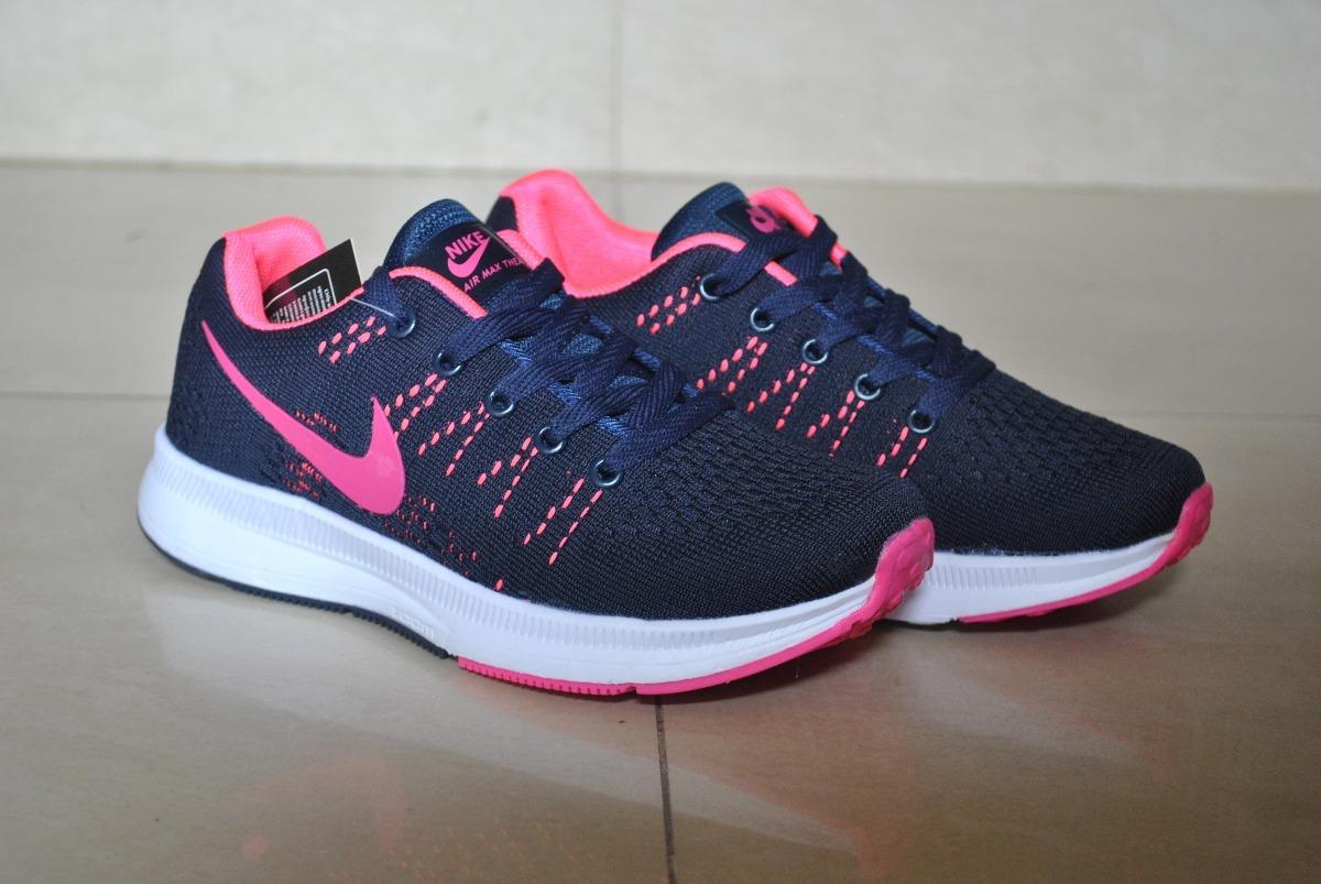 Kp3 Zapatos Nike Air Thea Zoom Azul Marino / Fucsia Damas - Bs ...
