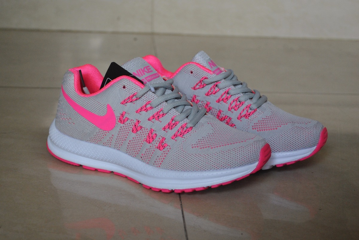 60cd243c273 kp3 zapatos nike air zoom pegasus gris   rosa para damas. Cargando zoom.
