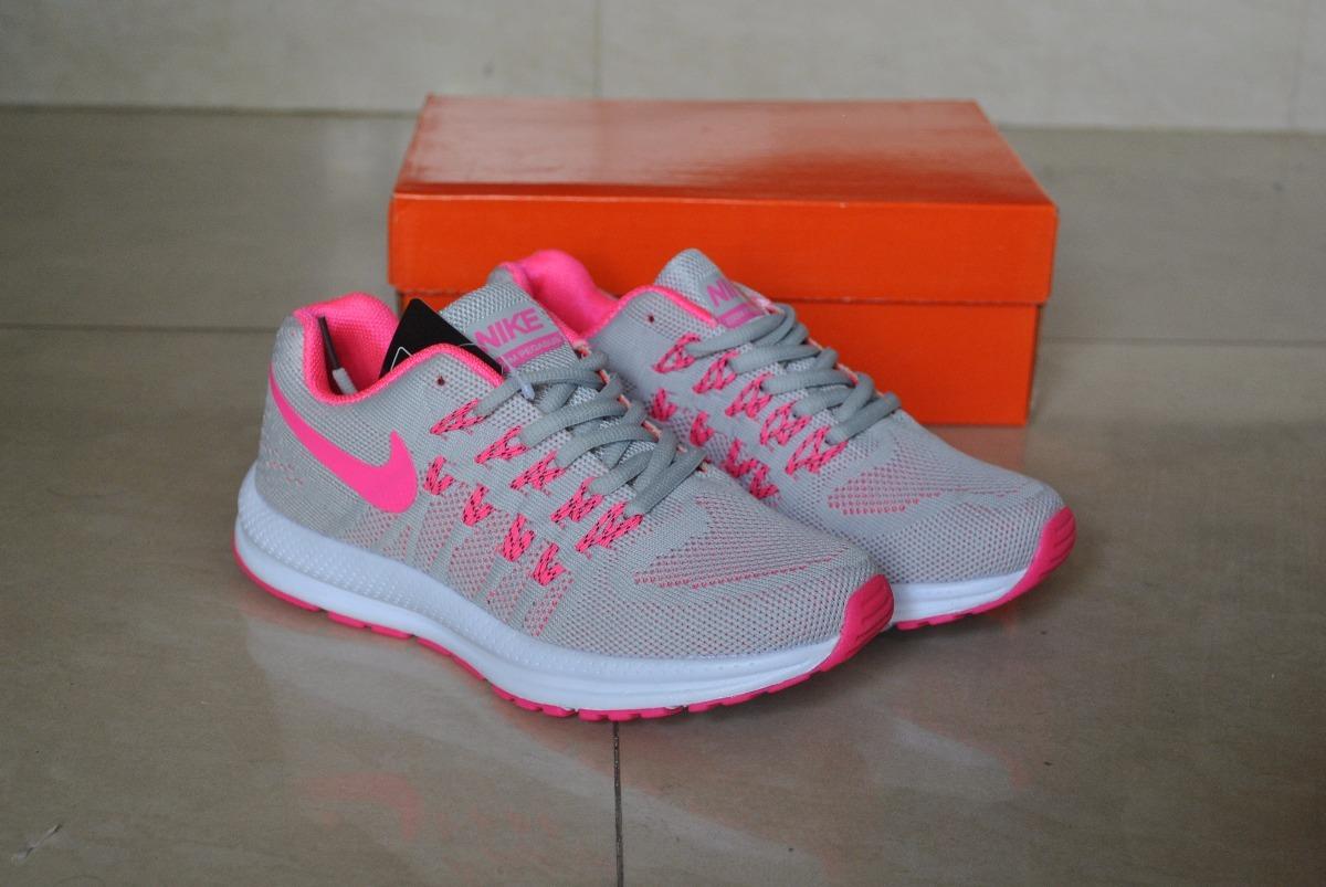 479610fcd604f kp3 zapatos nike air zoom pegasus gris   rosa para damas. Cargando zoom.