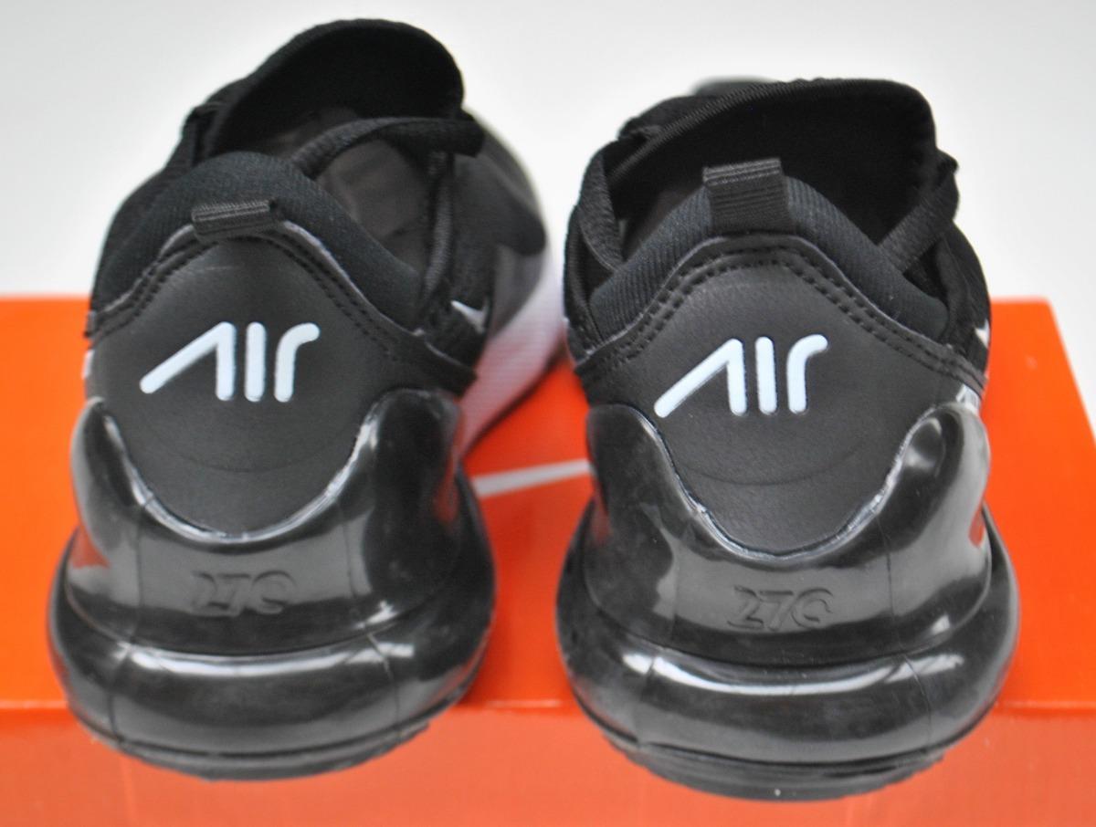 Kp3 Zapatos Niños Niñas Nike Air Max 270 Negro Blanco