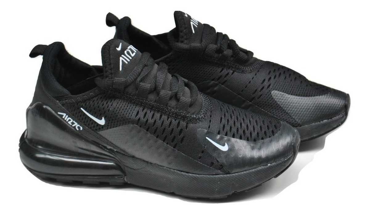 Kp3 Zapatos Niños Niñas Nike Air Max 270 Negro Completo