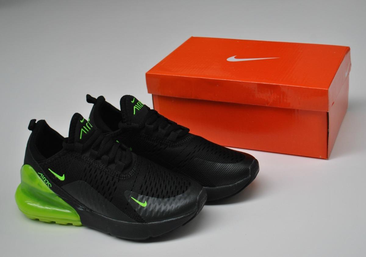 Kp3 Zapatos Niños Niñas Nike Air Max 270 Negro Verde