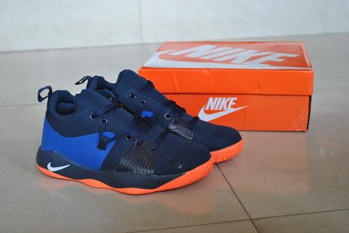 kp3 zapatos niños niñas nike paul george 2 azul naranja