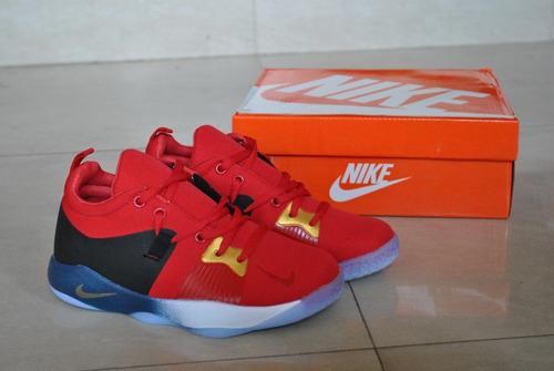 kp3 zapatos niños niñas nike paul george 2 rojo solo 34