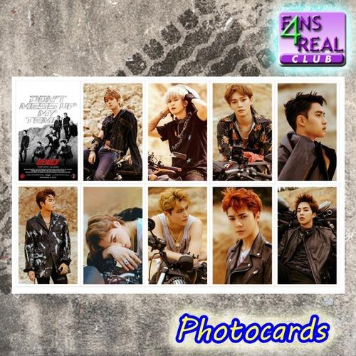 kpop kit exo tempo - 10 photocards + 1 poster + 8 adesivos