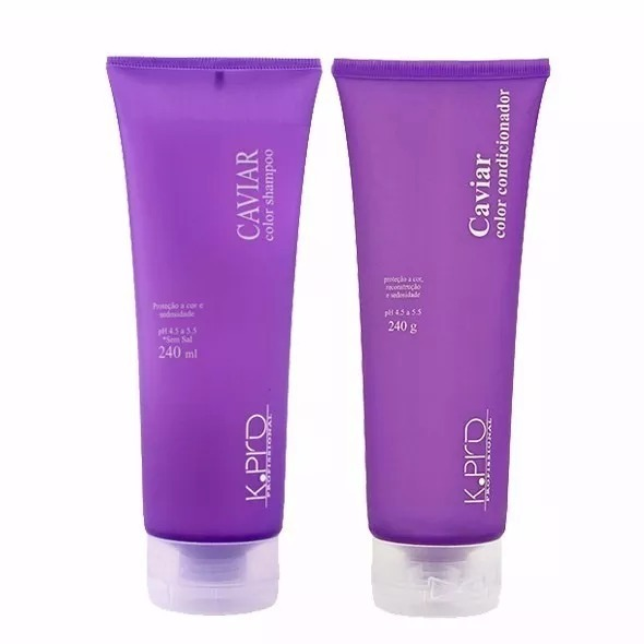 847b3bd896 Kpro Kit Caviar Color Shampoo + Condicionador 240ml - R  149