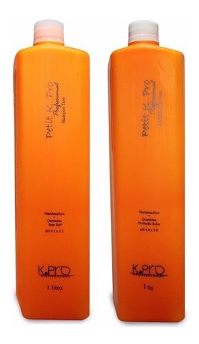 kpro petit teen shampoo + condicionador 1000ml cada + brinde