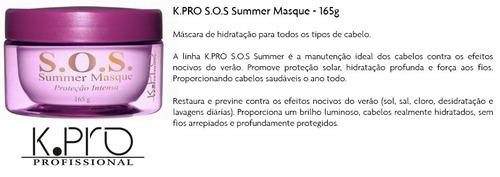 k.pro s.o.s. summer masque tratamento e proteção 165g