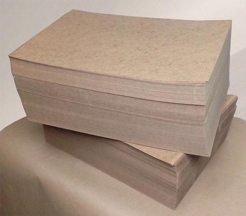 kraft cartulina natural tamaño carta 250gr. 500 pzas.