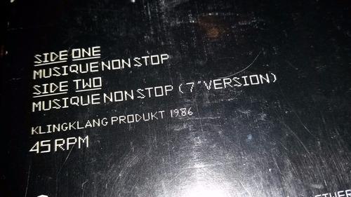kraftwerk musique non stop vinilo maxi usa promo
