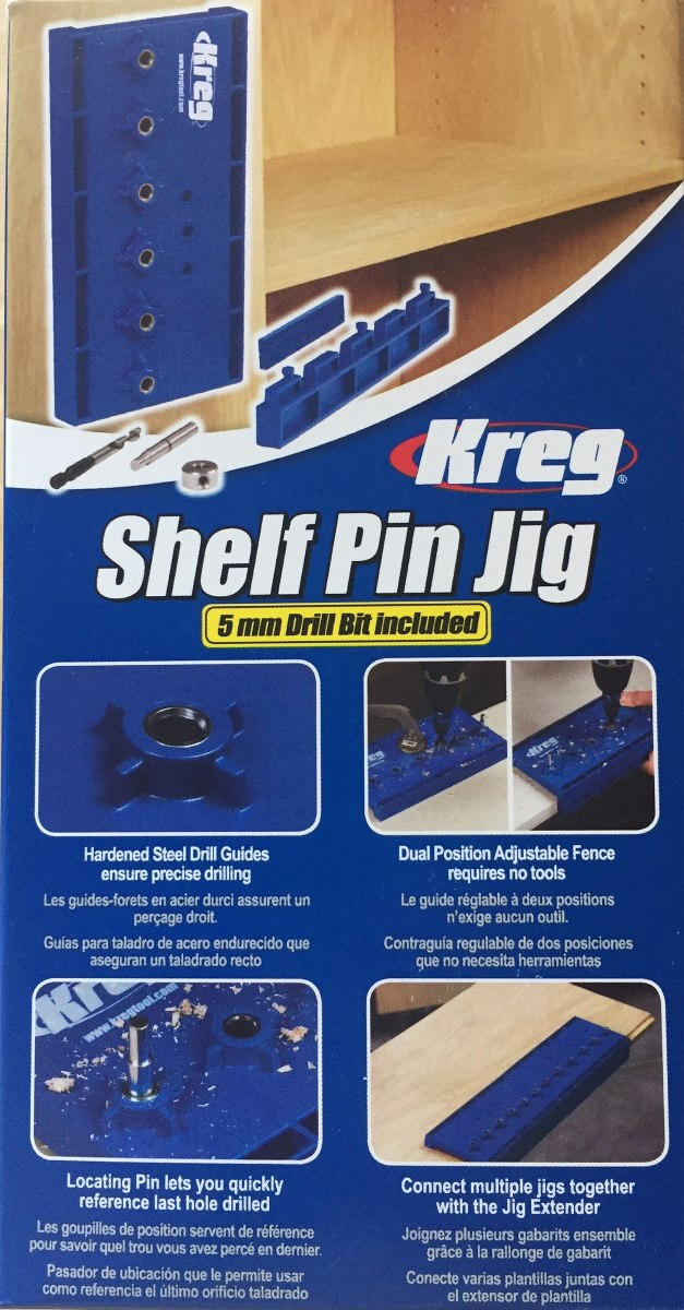 Kreg Shelf Pin Jig Plantilla Orificios Estantes Carpintería ...