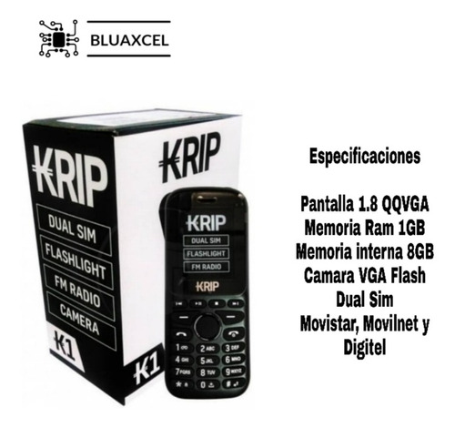 krip k1 teléfono básico nuevo