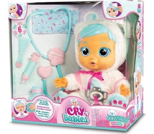 kristal - cry babies -muñeca interactiva bebe llorona- nuevo