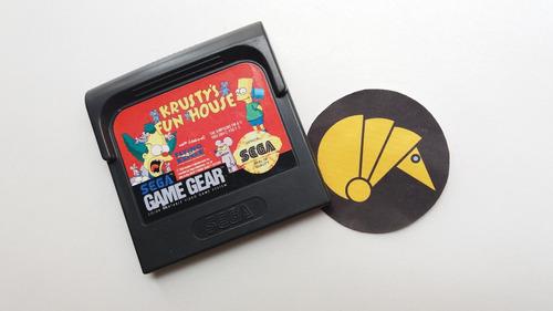 krusty's fun house sega game gear  / armadilo games cali nes