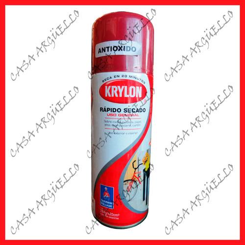 krylon - pintura aerosol antioxido - rojo 284 gr.