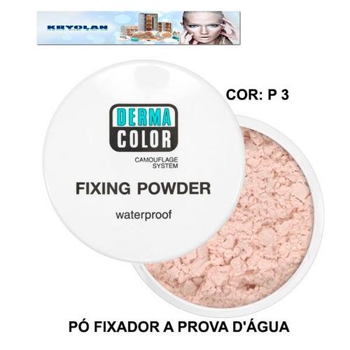 kryolan dermacolor pó fixador waterproof translúcido p 3