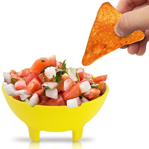 ksev tazones de salsa plásticos chips de molcajete mexicano