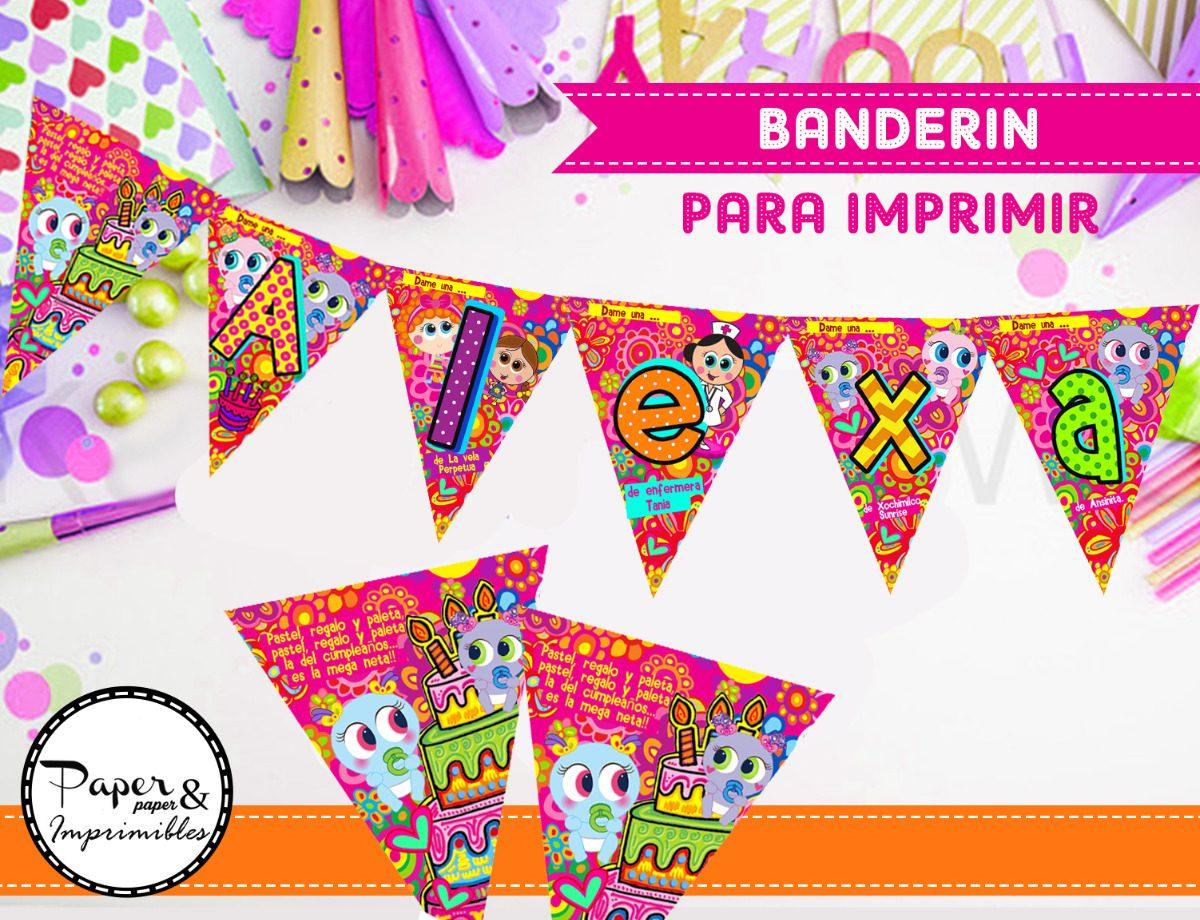 Ksimeritos Banderin Decoracion Fiesta 25 00 En Mercado Libre