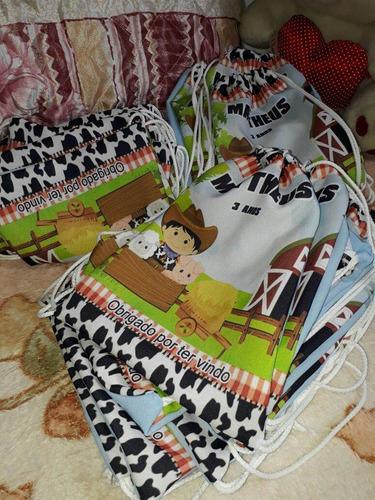 kt 50 mochila saco/ lembrancinha personalizadas 19x27cm