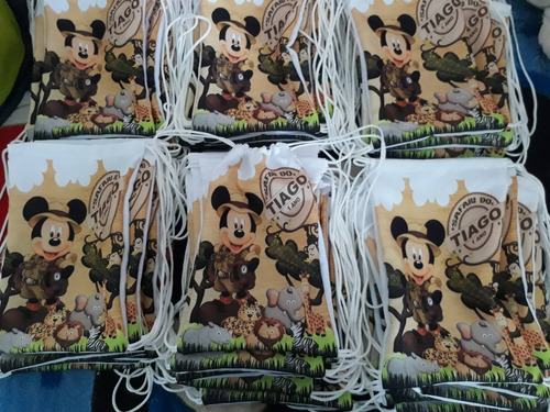 kt 50 mochila saco/ lembrancinha personalizadas 20x28 cm
