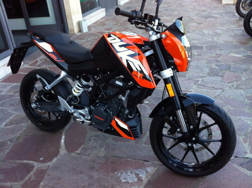 ktm duke 200 0km naranja/blanco gs motorcycle