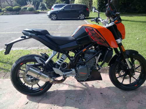 ktm duke 200 + cañossilen + escape original + cree led + k&n