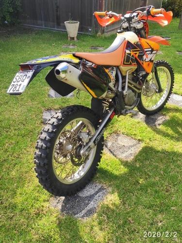 ktm exc-f 400cc del 2002, unica y en impecable estado.