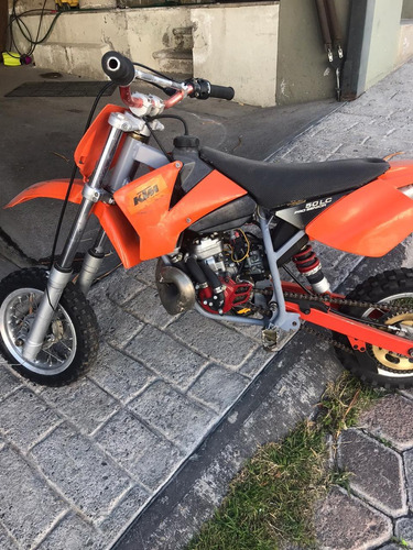 ktm mini adventure sx50 color naranja excelente estado