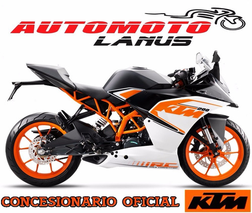 ktm rc 200 0km 2017 automoto lanús financiación tasa 0% !!!