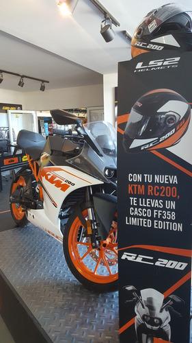 ktm rc 200 2016 0 km deportiva sport calle moto pistera