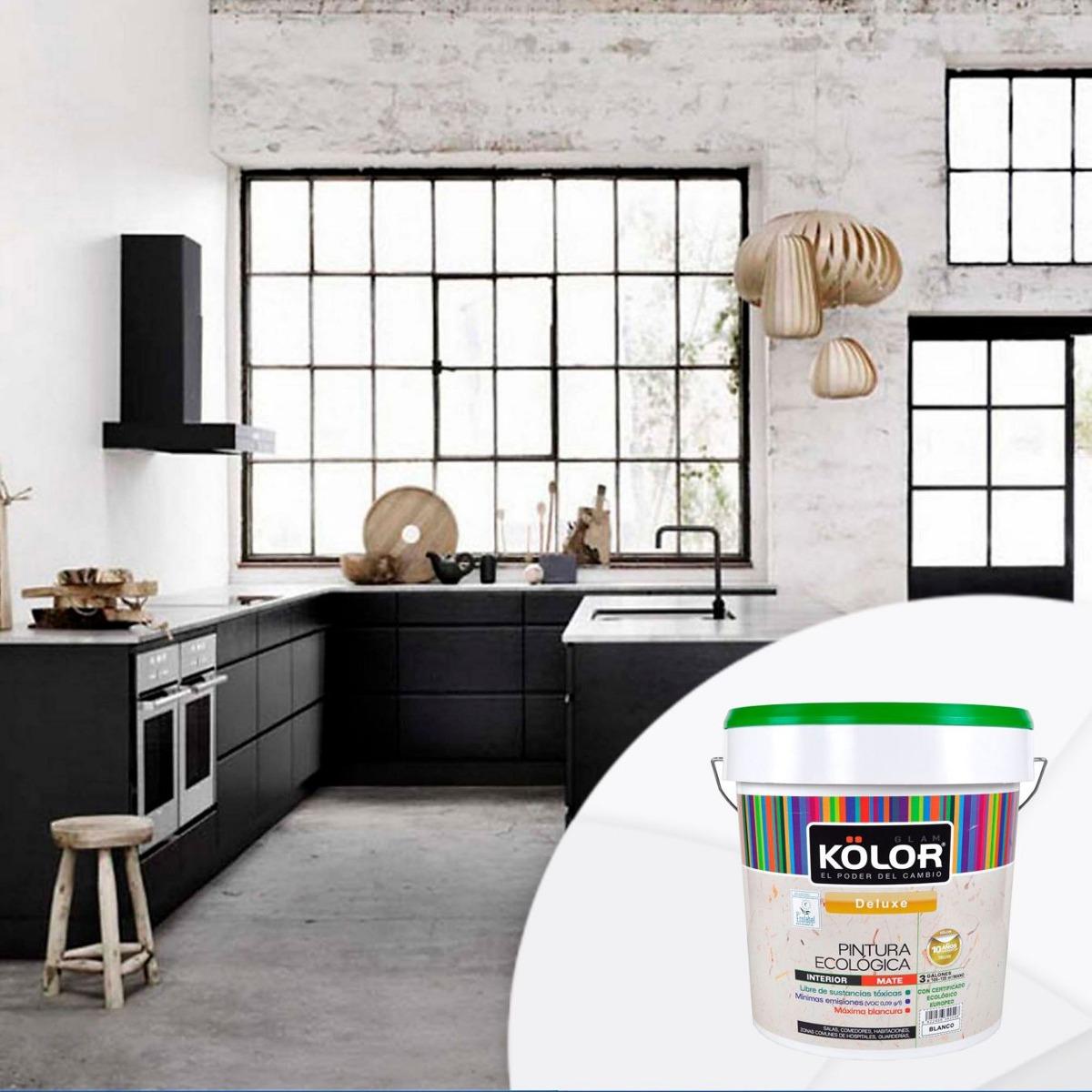 Ktr-h Kolor Pintura Ecológica Blanco 3 Galones Kolor - $ 279.000 en ...