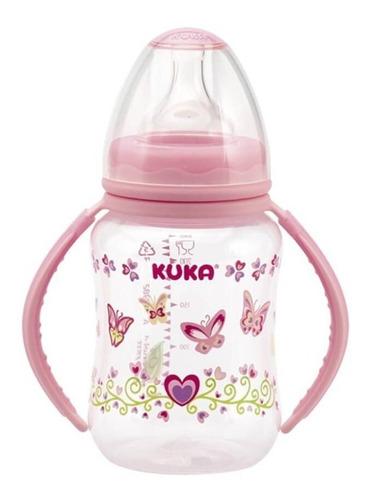 kuka 1577 mamadeira natural big alça rosa 240ml