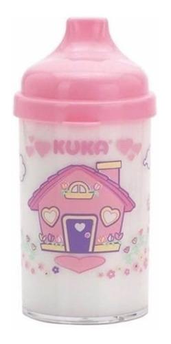 kuka 6047 copo infantil cristal decorado rosa