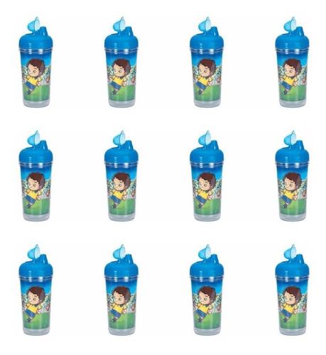 kuka 6156 copo infantil mágico fun menino 330ml (kit c/12)