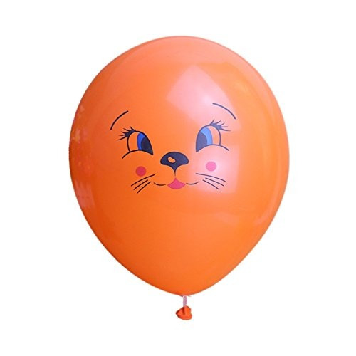 Kumeed Globos De Cara De Gato Color Mixto 12 Latex Animal 70777