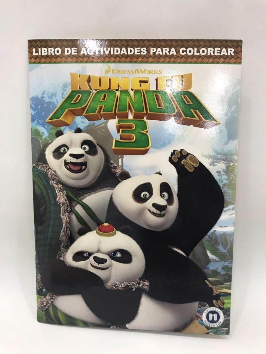 Kung Fu Panda 3: Libro De Actividades Colorear / Souvenir - $ 29,90 ...
