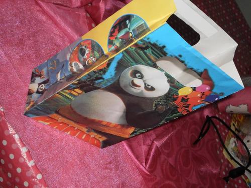 kungfu panda 12 bolsas para cotillones fiesta cumpleaños