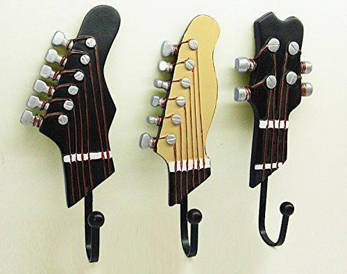 kungyo guitarra vintage en forma de ganchos decorativos perc