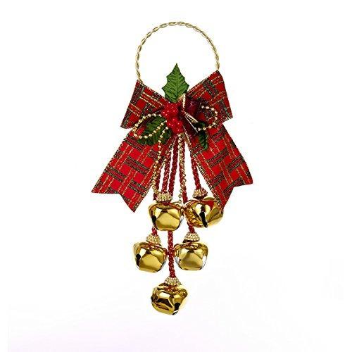 kurt adler 11 \suspensión de puerta de navidad jingle bell